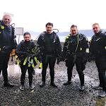 Advanced Open Water graduates 28 April 2018 at Sound Rock, L-R:  DM Joe, students Lexus and Hunter, MI Pete, and student Jay.